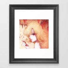 Automne rouge Framed Art Print