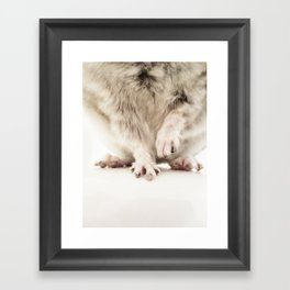 Chinchilla Hands = The Cutest Hands Framed Art Print