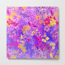 Colorful cherry blossoms Metal Print
