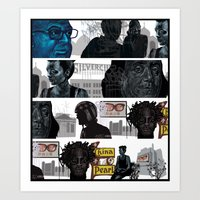 subway Art Prints featuring Subway by robweissillustration.com