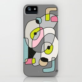 Abstract Painting of a Dog (1) - Modern Artwork iPhone Case