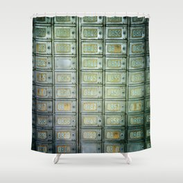 PO boxes Shower Curtain