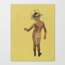 Hit to death in the future head Canvas Print