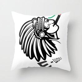 E-World! (Jamaican Indian) Throw Pillow