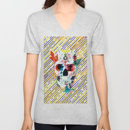 Abstract Skull Unisex V-Neck