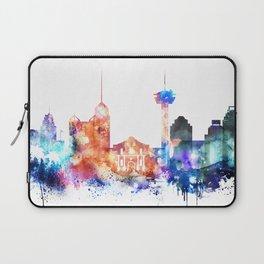 San Antonio Watercolor Skyline Laptop Sleeve