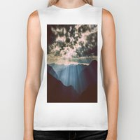 mountains Biker Tanks featuring mountainS Dark Sunset by 2sweet4words Designs