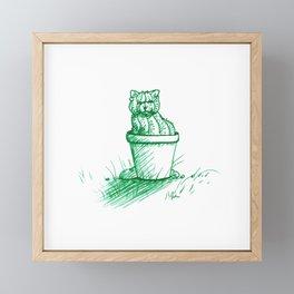 Catctus Framed Mini Art Print