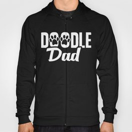 Doodle Dad, Cute Golden Doodle  Fathers Day Paws, Best Doodle Dad Ever Pet Lover Owner Hoody
