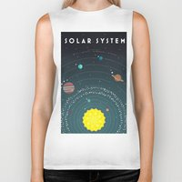 solar system Biker Tanks featuring Solar System by scarriebarrie