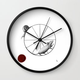 dilemma; the snail has the upper hand Wall Clock