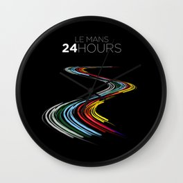 Racing Lines - Le Mans 24 Hours Wall Clock