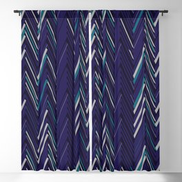 Abstract Chevron Blackout Curtain