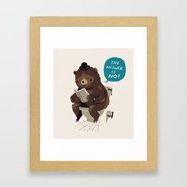 Does A Bear.. Framed Art Print