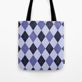 Blue Argyle Pattern Tote Bag