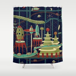 Fantastic Launch Station Shower Curtain
