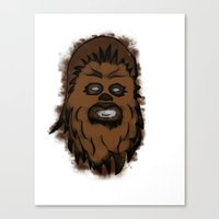 chewbacca Canvas Prints featuring Chewbacca by MuDesignbyMugeBaris