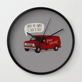 Creeper Van Wall Clock