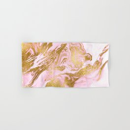 Rose Gold Mermaid Marble Hand & Bath Towel