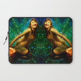 Galaxy Toot Girl   Sexy Pin Up Humor Laptop Sleeve