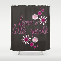 sparkle Shower Curtains featuring Sparkle by Lucilight