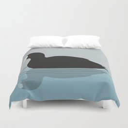 Common coot vector Duvet Cover