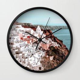 Santorini Greece, Fira Wall Clock