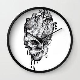 skullheart Wall Clock