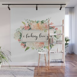 love you floral Wall Mural