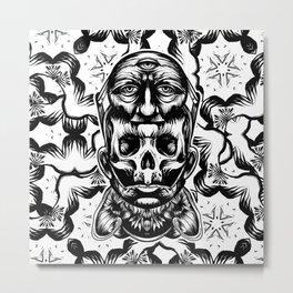 Face helmet Metal Print