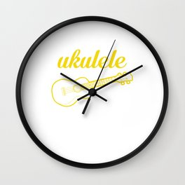 It's a Ukulele Thing, You Wouldn't Understand Funny T-shirt Wall Clock