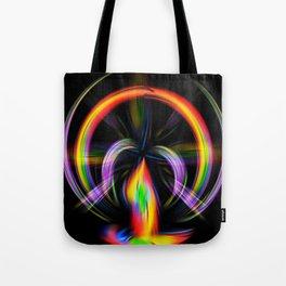 Digital Painting Fire Tote Bag