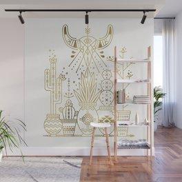 Santa Fe Garden – Gold Ink Wall Mural
