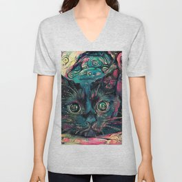 Vincent's Cat Unisex V-Neck
