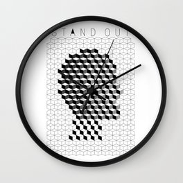 VISION CITY - STAND OUT Wall Clock
