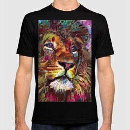 Colorful Lion Painting 2018 T-shirt