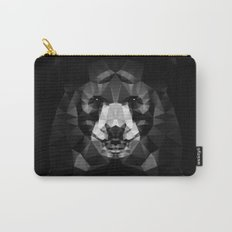 Bear - Black Geo Animal Series Carry-All Pouch