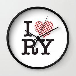 I heart RY(Riyadh) Wall Clock