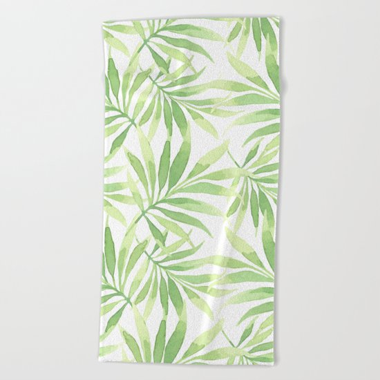 Tropical Branches Pattern 10 Beach Towel