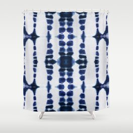 Boho Tie-Dye Knit Vertical Shower Curtain