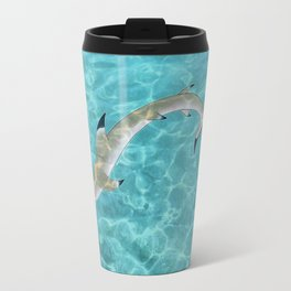 Blacktip Reef Shark Man Travel Mug