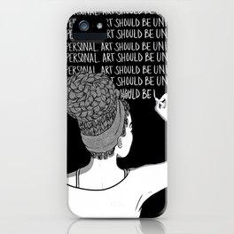 """Black Art""-1 iPhone Case"