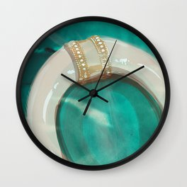 Brass & Bone Wall Clock