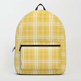 Spring 2017 Designer Color Primrose Yellow Tartan Plaid Check Backpack