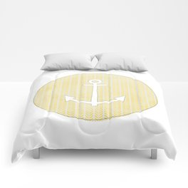 Anchor in Yellow Comforters