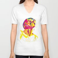 anatomy V-neck T-shirts featuring Anatomy 210914 by Alvaro Tapia Hidalgo