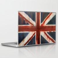 union jack Laptop & iPad Skins featuring Union Jack by breezy baldwin