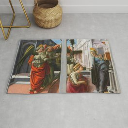 "Fra Filippo Lippi ""Martelli Annunciation"" Rug"