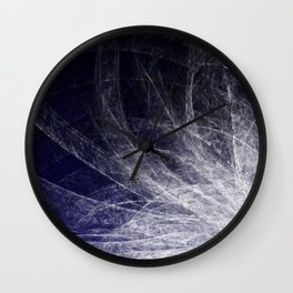 Cyan Texture Feathers Wall Clock