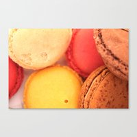 macaroons Canvas Prints featuring Macaroons by alexarayy
